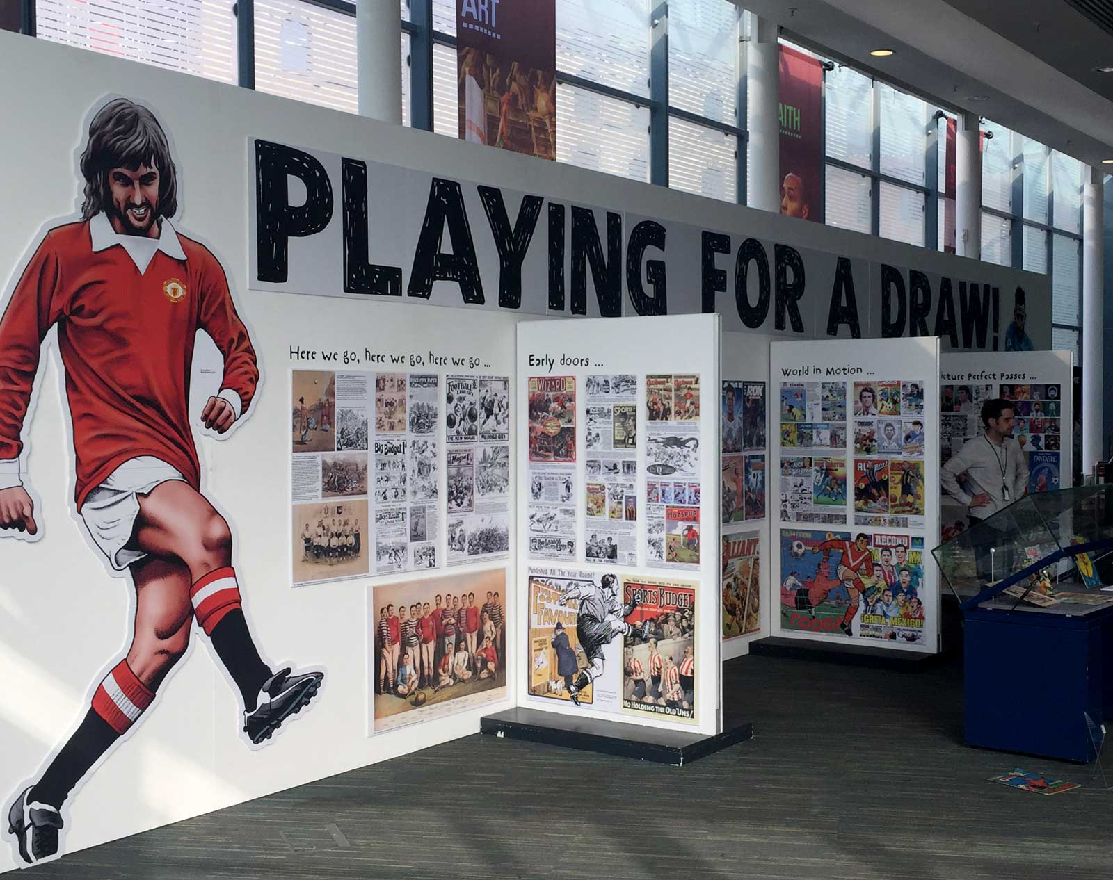 In Pictures: Playing for a Draw Football Comics Exhibition, the National Football Museum