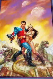 "Dave Dorman's cover for the Quality ""Turbo Jones - Pathfinder"" one shot published in 1991, on sale over at Comic Art Fans."