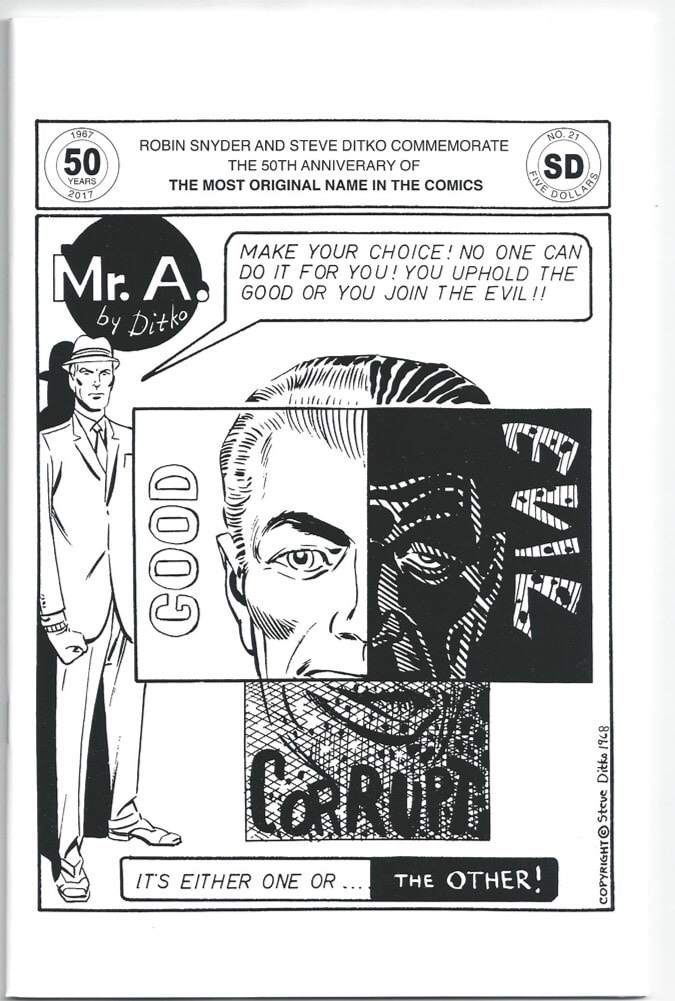MR A #21 by Robin Snyder and Steve Ditko