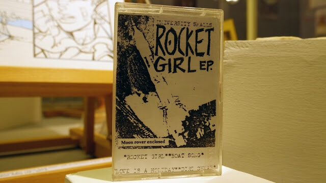 Rocket Girl E.P. cassette tape by the University Smalls. Featuring Alan Martin on lead guitar and vocals and Philip Bond on Bass Guitar