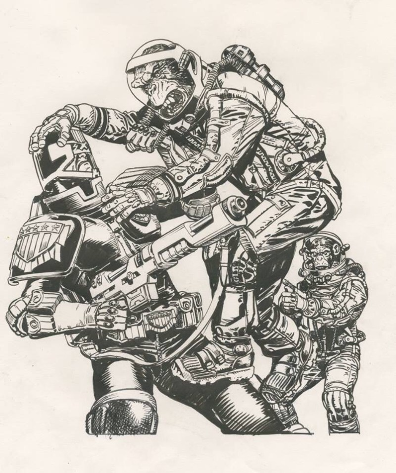 2000AD Prog 2089 Cover - Chris Weston Pencil Rough