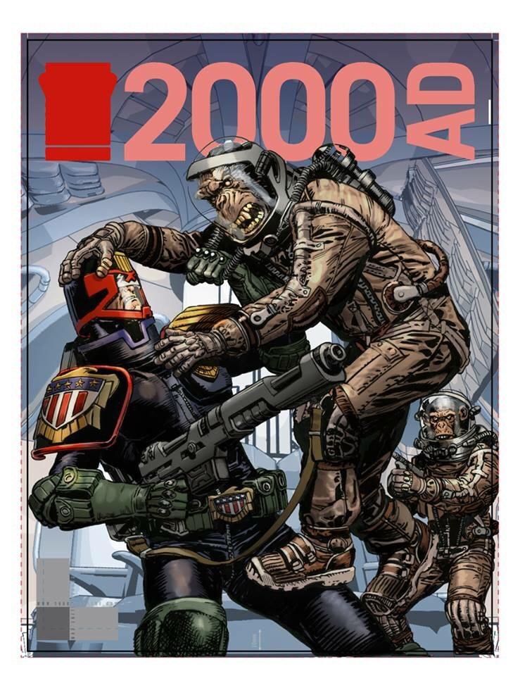 2000AD Prog 2089 Cover - Chris Weston Colour Rough