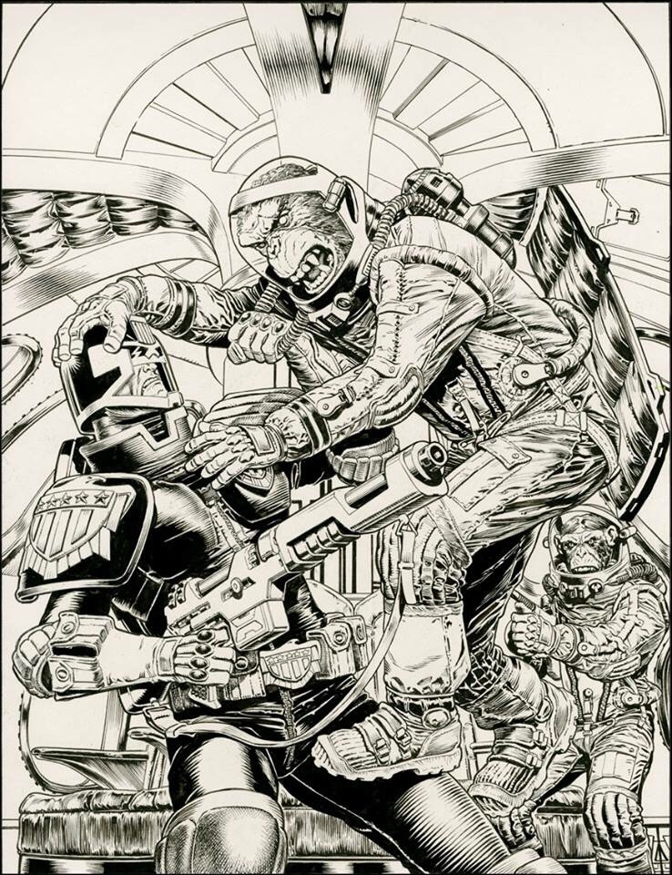 2000AD Prog 2089 Cover - Chris Weston Inks