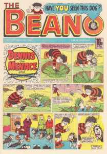 Gnasher returns with pups in tow in Beano 2282