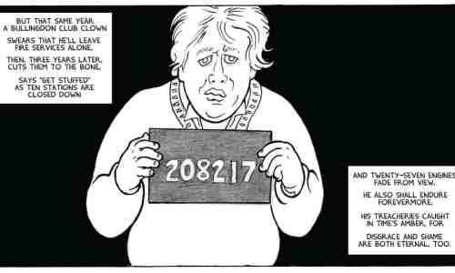 """A panel from 24 PANELS - """"If Einstein's Right …"""" written by Alan Moore"""