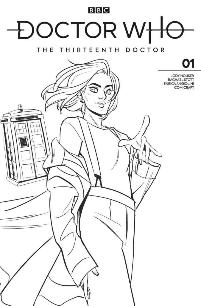 Doctor Who: The Thirteenth Doctor #1 - Cover L - Black and White - Babs Tarr Art