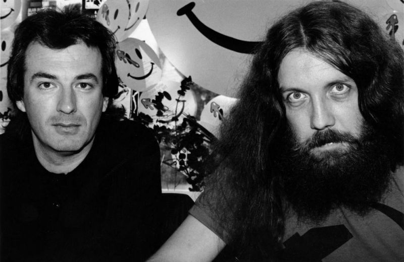 Forbidden Planet, October 1987 - Dave Gibbons and Alan Moore signing Watchmen