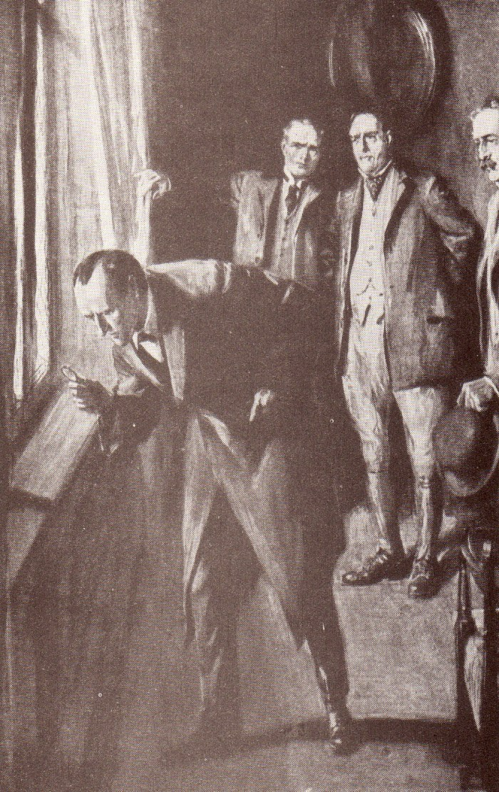 A Sherlock Holmes illustration by Frank Wiles from The Strand Magazine, October 1914