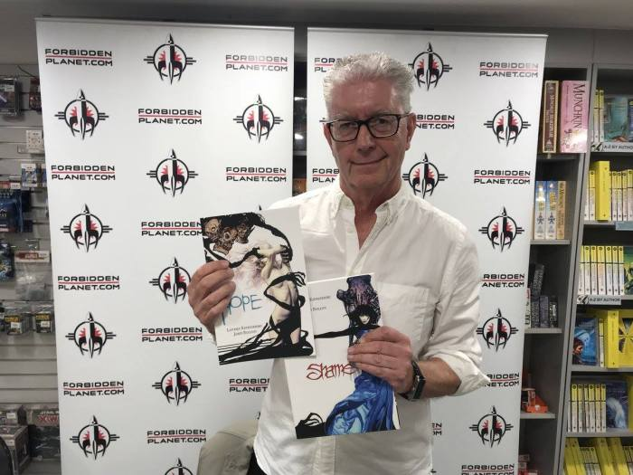 John Bolton at Forbidden Planet, London, in June 2018. Image: Forbidden Planet