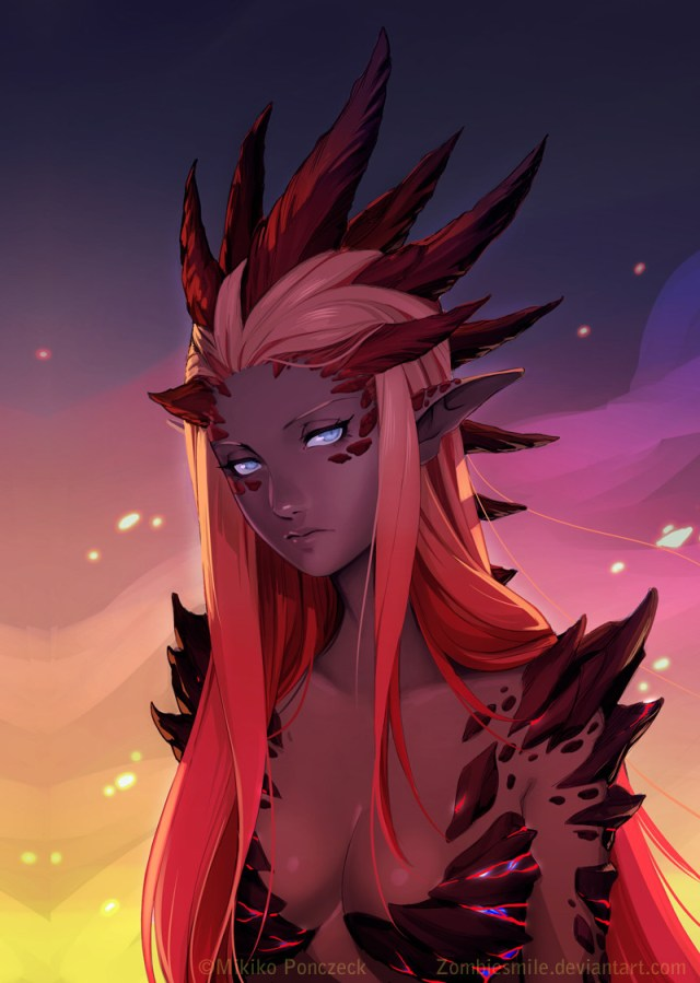 Red Dragon Queen by Mikiko
