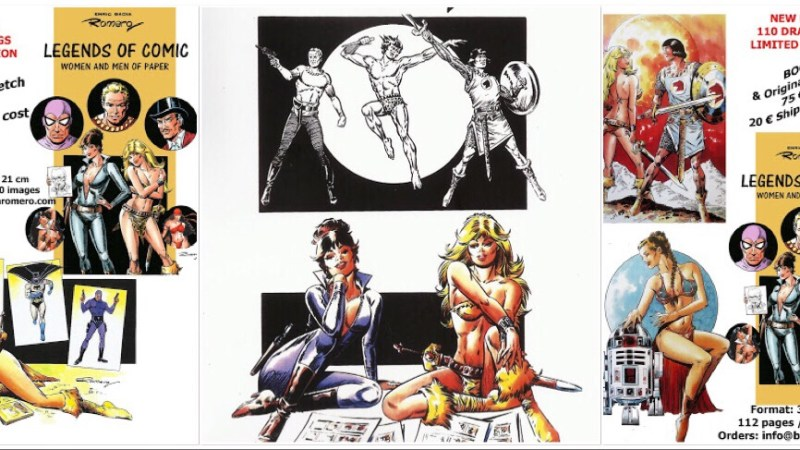Axa and Modesty Blaise artist Romero announces new art book