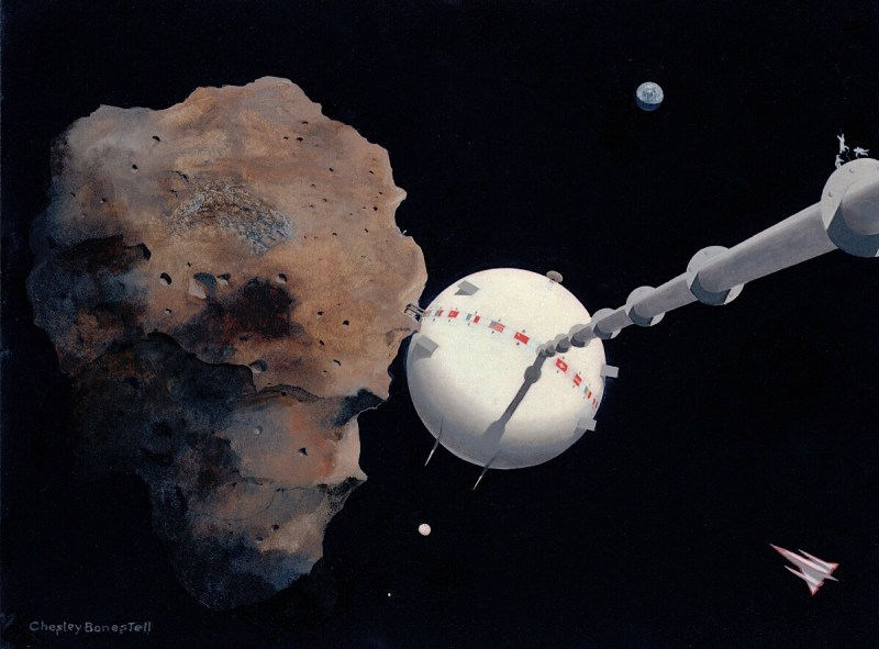 Art by Cheslsey Bonestell, used to publicise Chesley Bonestell: A Brush With The Future. Image: Bonestell LLC