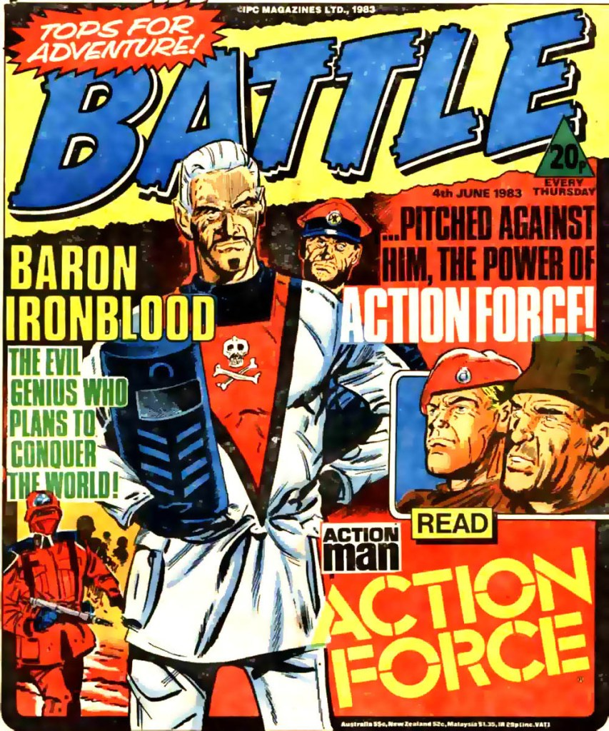 The first appearance of Action Force, for a four-issue run in June 1983