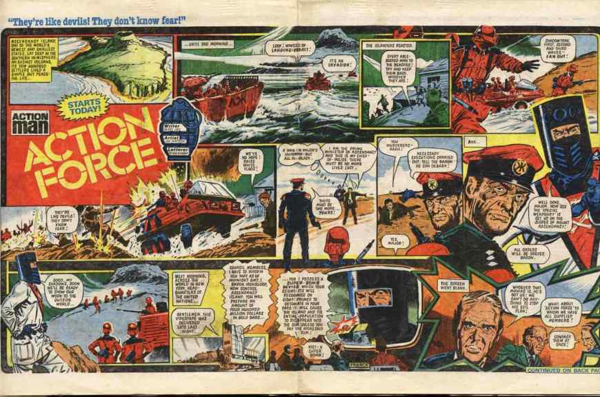 Action Force arrives in Battle, in the issue cover dated 4th June 1983