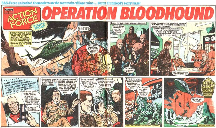 """Operation Bloodhound"" from Battle Action Force - cover dated 8th October 1986"