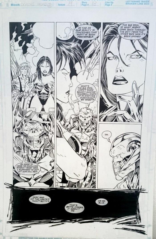Death's Head II #19 - Unpublished Art