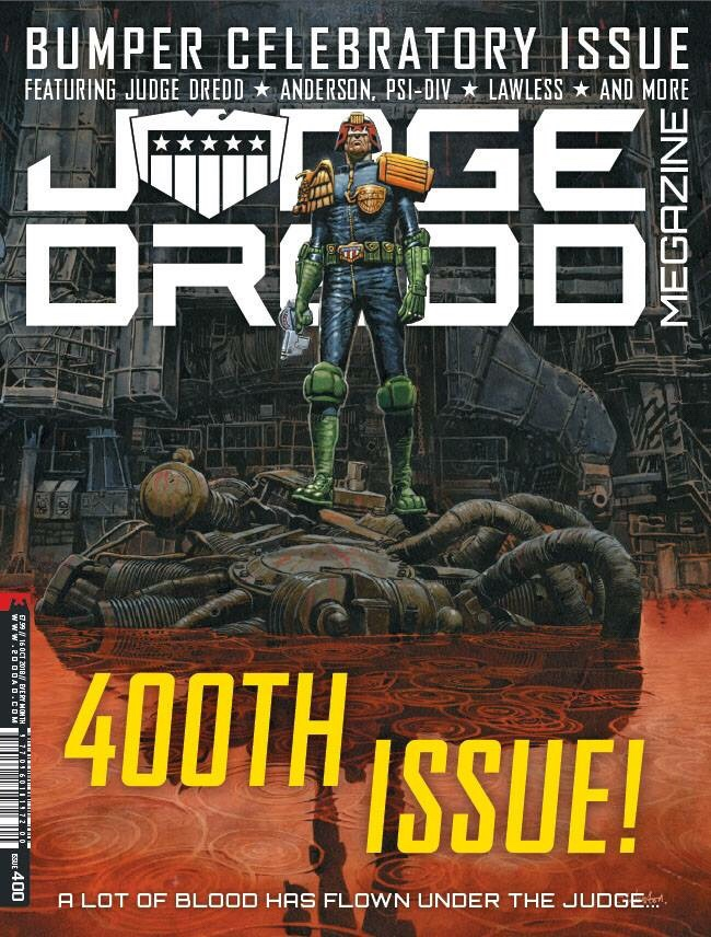 Judge Dredd Megazine 400 - Cover by Chris Weston