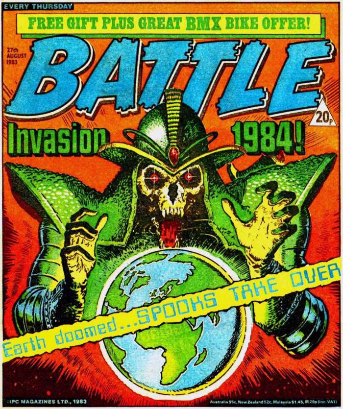 Battle - cover dated 27th August 1983