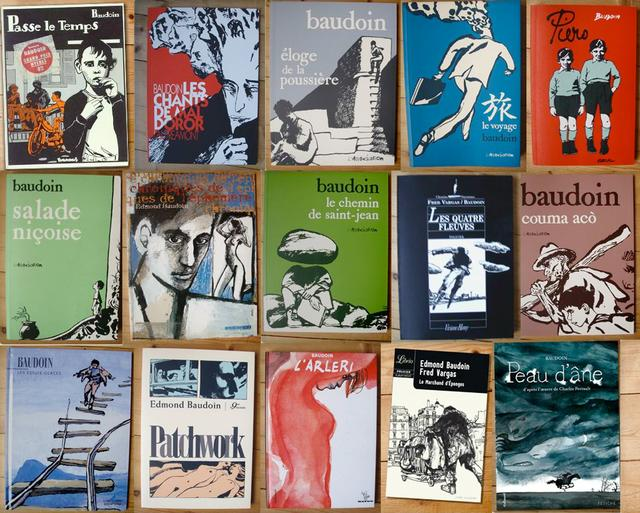 A selection of Edmond Baudoin's work, featured in the documentary Edmond, A Portrait of Baudoin produced by Laetitia Carton