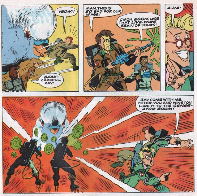 Panels from the Ghostbusters story