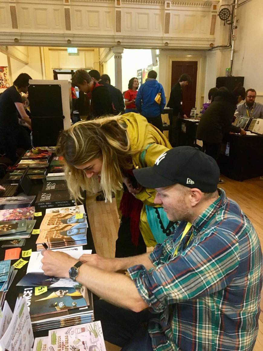A busy Comics Clock Tower. Photo: LICAF