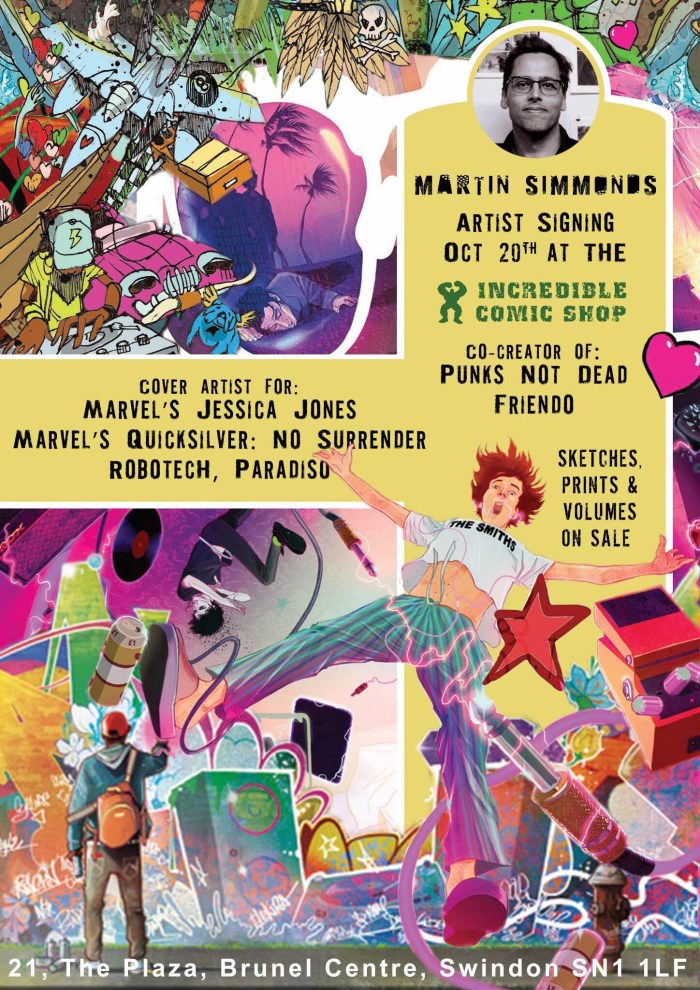 The Incredible Comic Shop - Punks Not Dead Signing