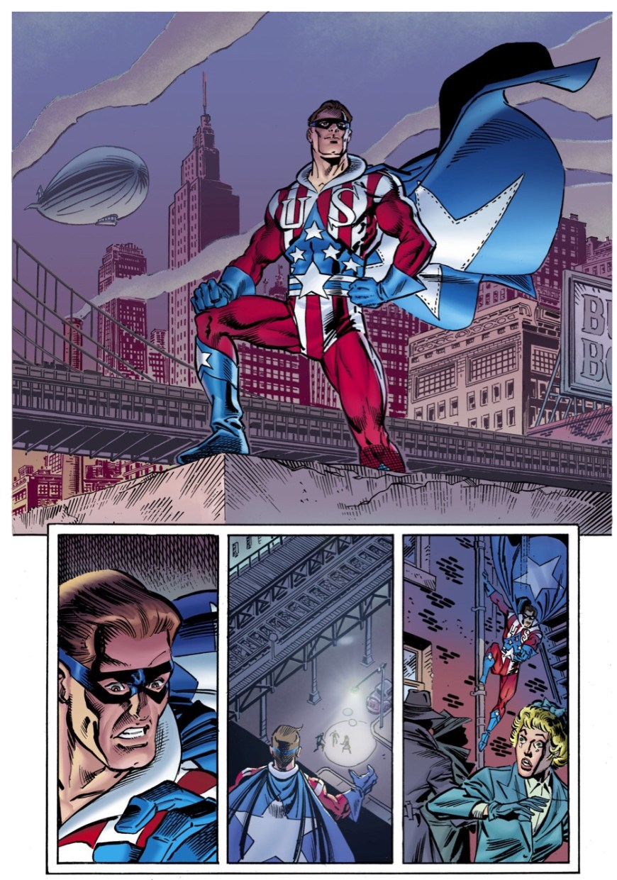 """Preview page from """"The Liberty Brigade"""" - art by Ron Frenz and Joe Rubinstein"""