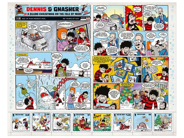 Isle of Man Beano Christmas Stamps 2018 - Comic