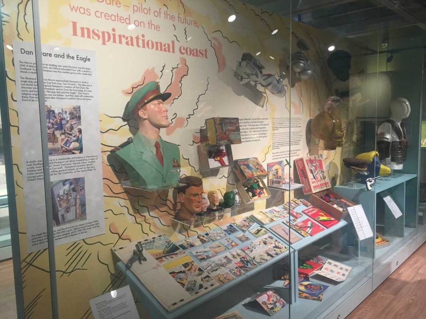 The permanent Dan Dare display at the Atkinson