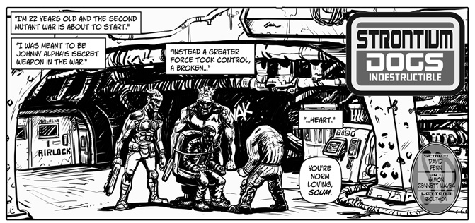 "Strontium Dogs - ""Indestructible"" by writer David Fenn and artist Simon Bennett Hayes"