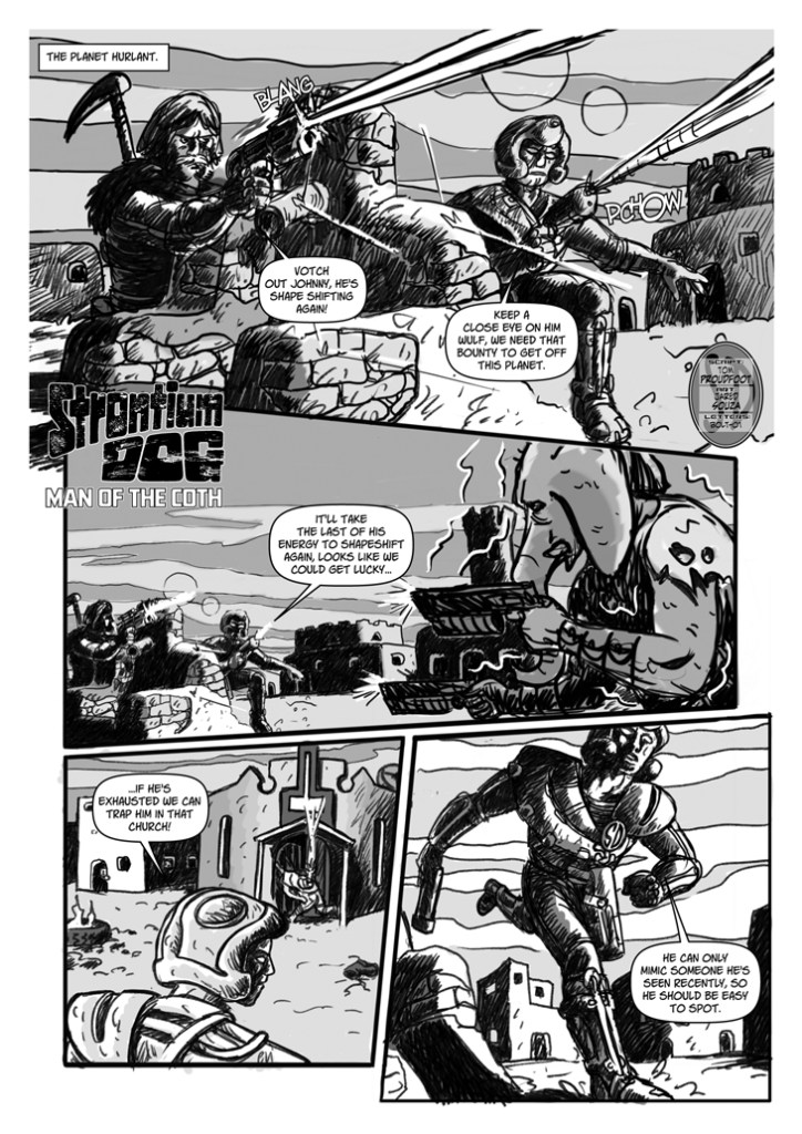 "Strontium Dog - ""Man of the Coth"" by writer Tom Proudfoot and artist Jared Souza"