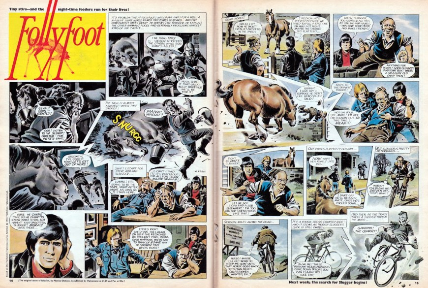 "A typically accomplished episode of ""Follyfoot"" for Look-In by Mike Noble (Issue 11, 1972). With thanks to Lew Stringer"