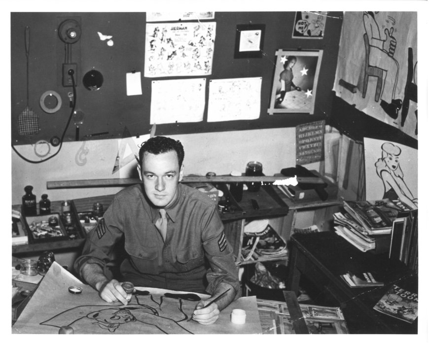 Stan Lee during World War Two. His official US Army title was 'Playwright.' Via the TheRealStanLee