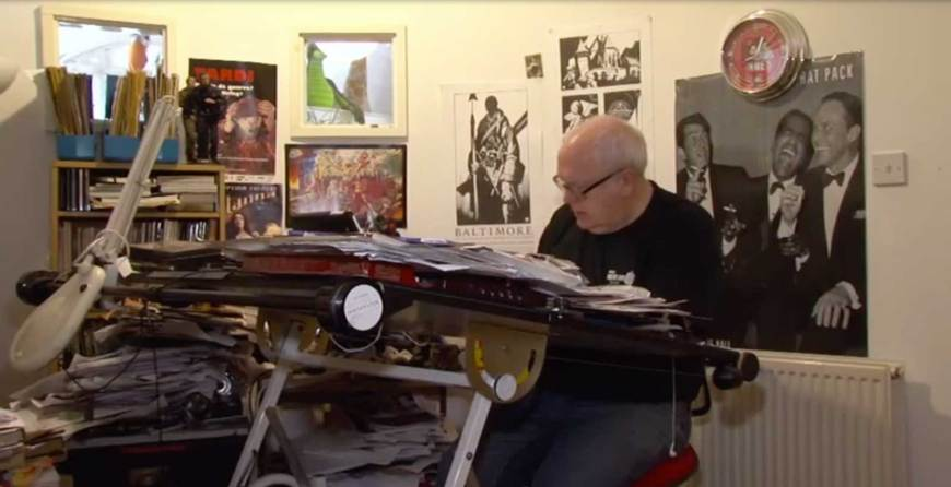 Artist Mike Collins at work. Image: Forces News