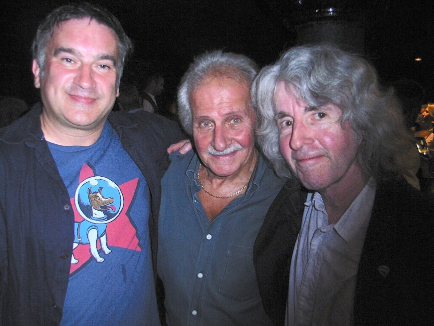 Alan Cowsill (left) and Tim Quinn (right), with Pete Best, one of the original Beatles. Tim is working with Pete on a new project
