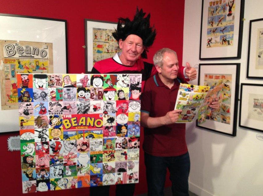 Gordon Tait's Beano inspired painting raised £3200 for footballer Bob Wilson's Willow Foundation charity in 2013 (Photo: Sabrina Segalov)