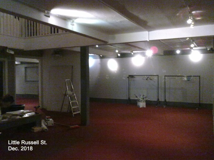 The Cartoon Museum's Russell Street premises has now been emptied as the move begins to its new, permanent location in Wells Street. Image: Cartoon Museum