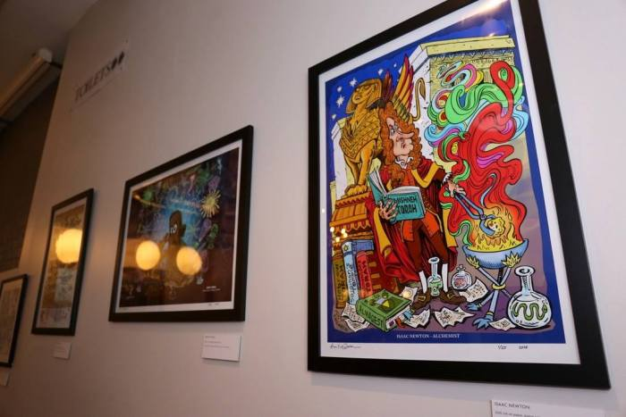 Part of the Hunt Emerson exhibition at the Primitivo Bar in Birmingham. Photo: Havill and Travis