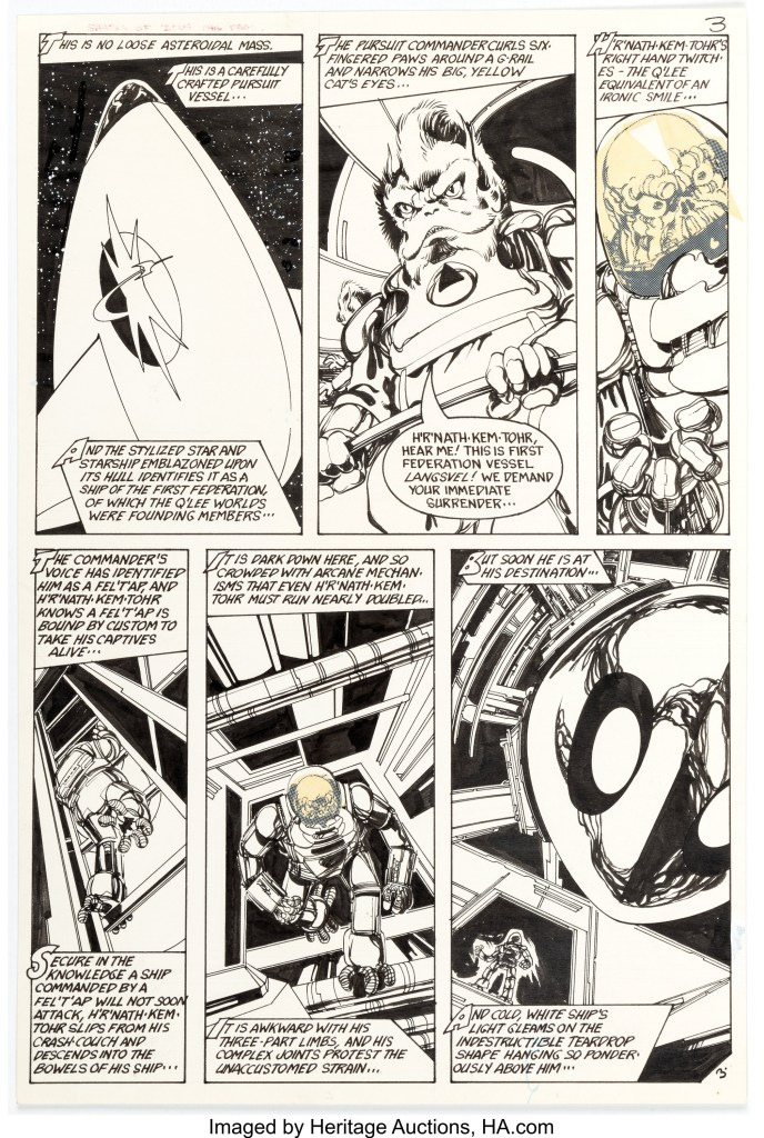 Art from #6 of Space: 1999 #6 by John Byrne, published by Charlton in 1976