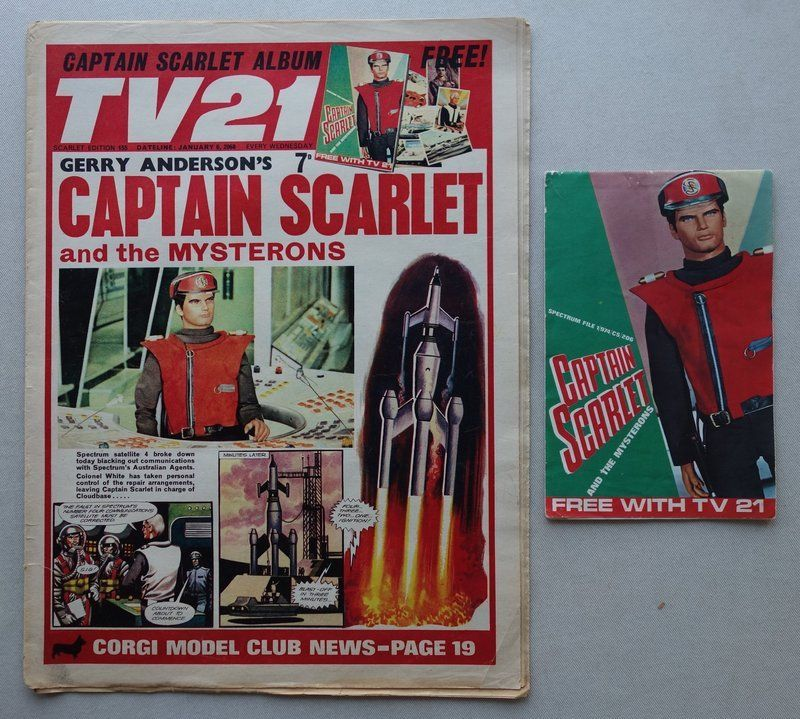 TV21 Issue 155 - cover dated 6th January 1968 - with free gift