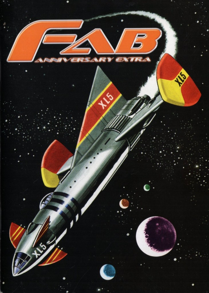 FAB Anniversary Extra showing Fireball XL5 - art by Mike Noble