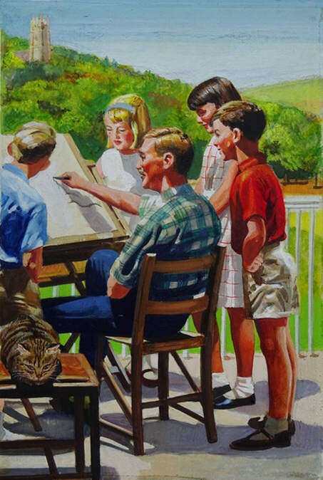 Ladybird Books - art from Out in the Sun by Frank Hampson