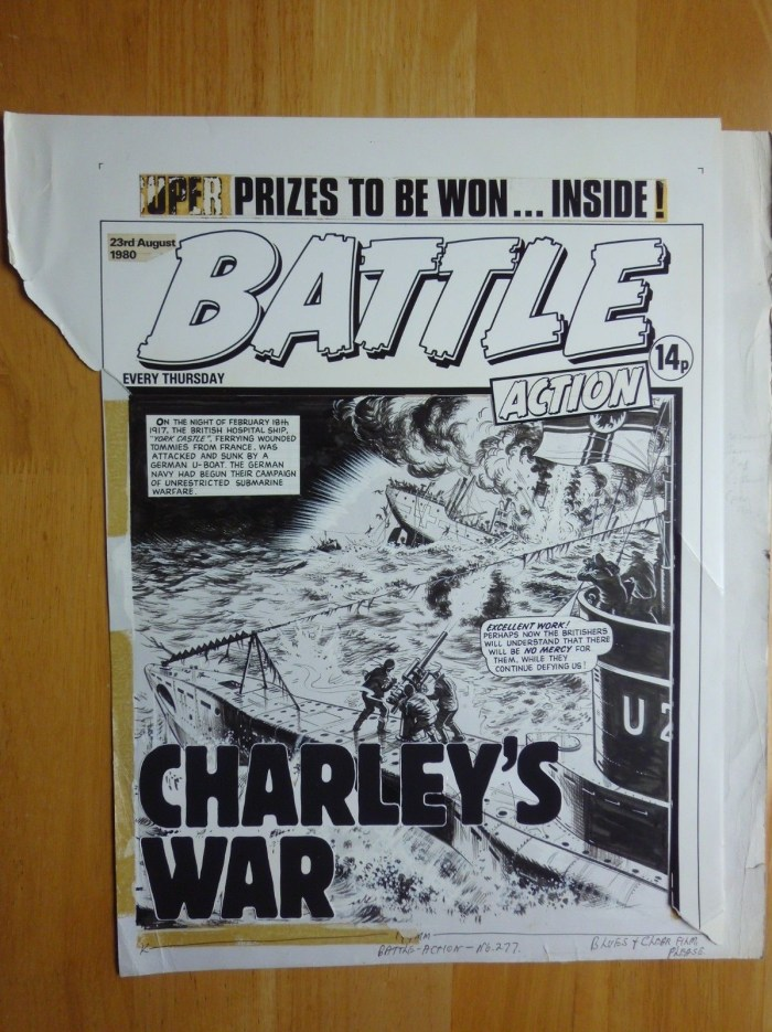Battle cover art - Charley's War - cover dated 23rd August 1980