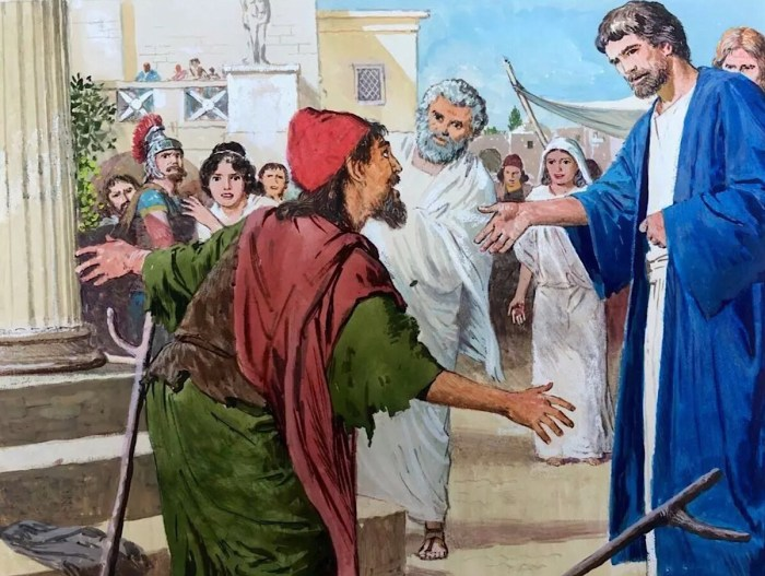 New Testament illustration by Clive Uptton