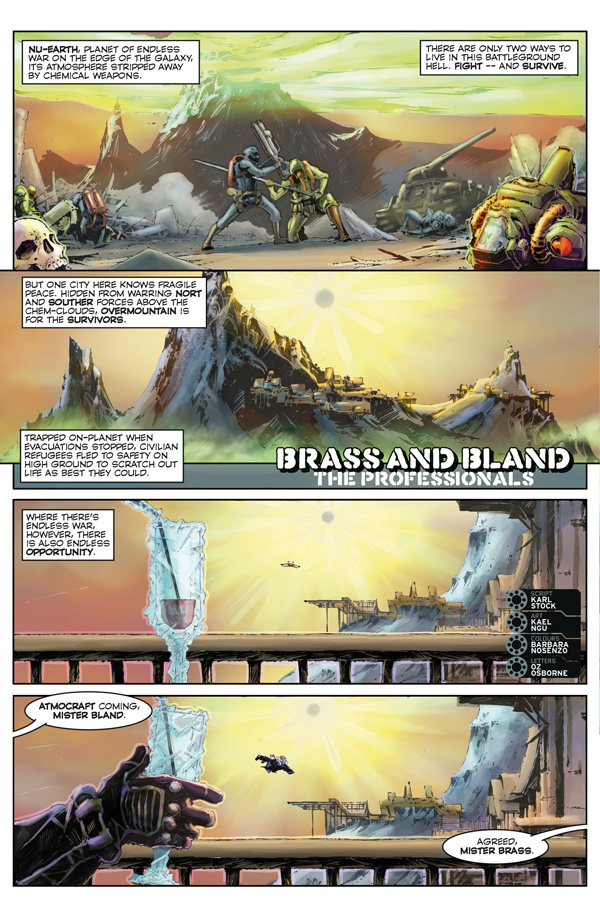 2000AD Villains Take Over 2019 - Brass and Bland: The Professionals
