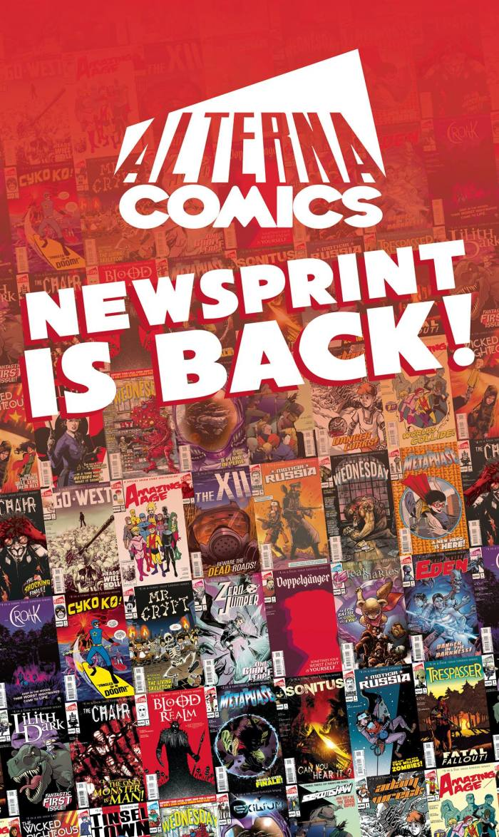 Alterna Comics - Newsprint is Back Banner