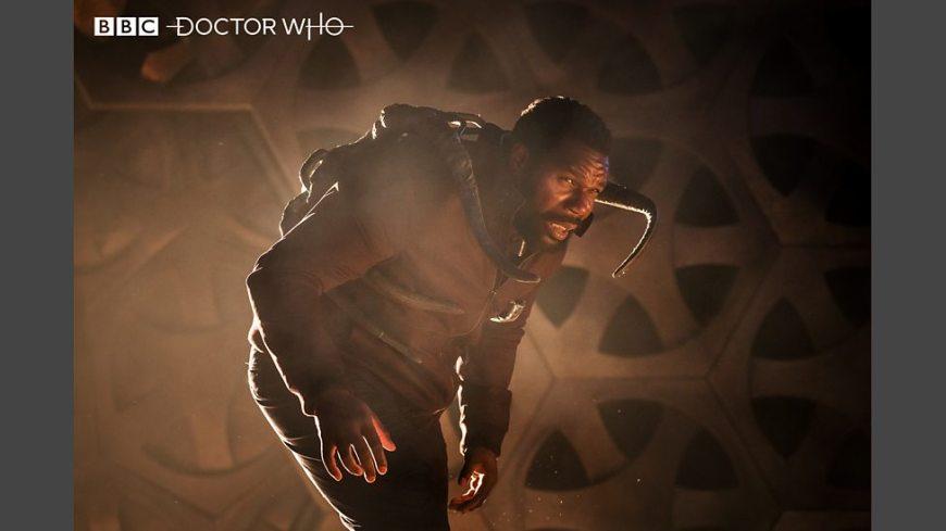 Daniel Adegboyega as Ryan's Dad, Aaron. Image © BBC