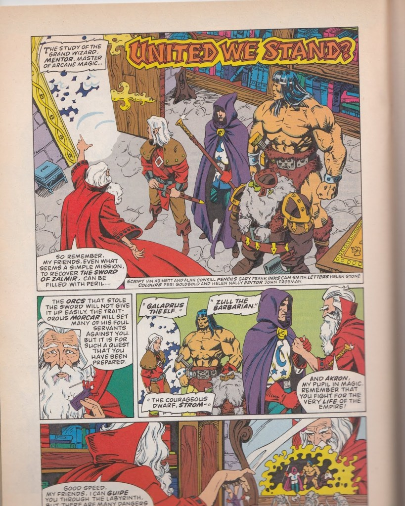 Marvel UK's Heroquest - Strip