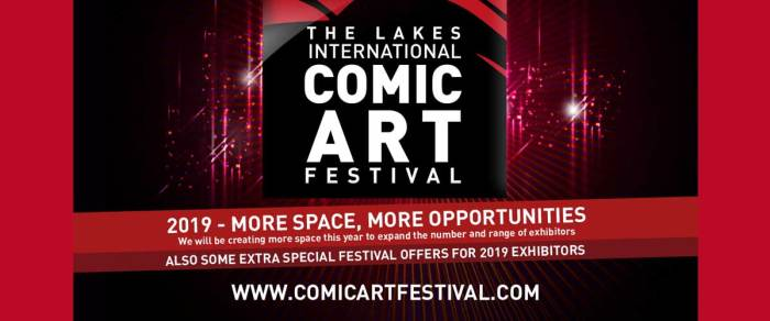 Lakes International Comic Art Festival 2019 - Comics Clock Tower