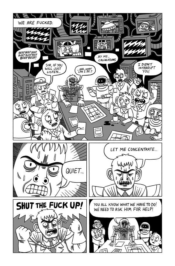 Rad Erwank and Conspiracy Dog - Sample Page